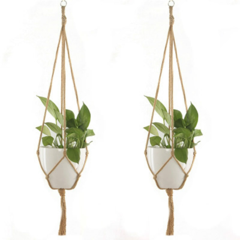Узелковая Подвеска для растений из макраме крючок винтажный хлопок лен