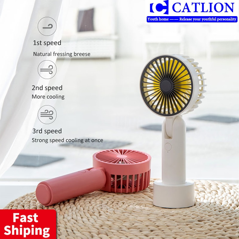 Usb mini charging three-gear large wind 180 degree folding mute electric fan portable handheld desktop small fan fashion ideas