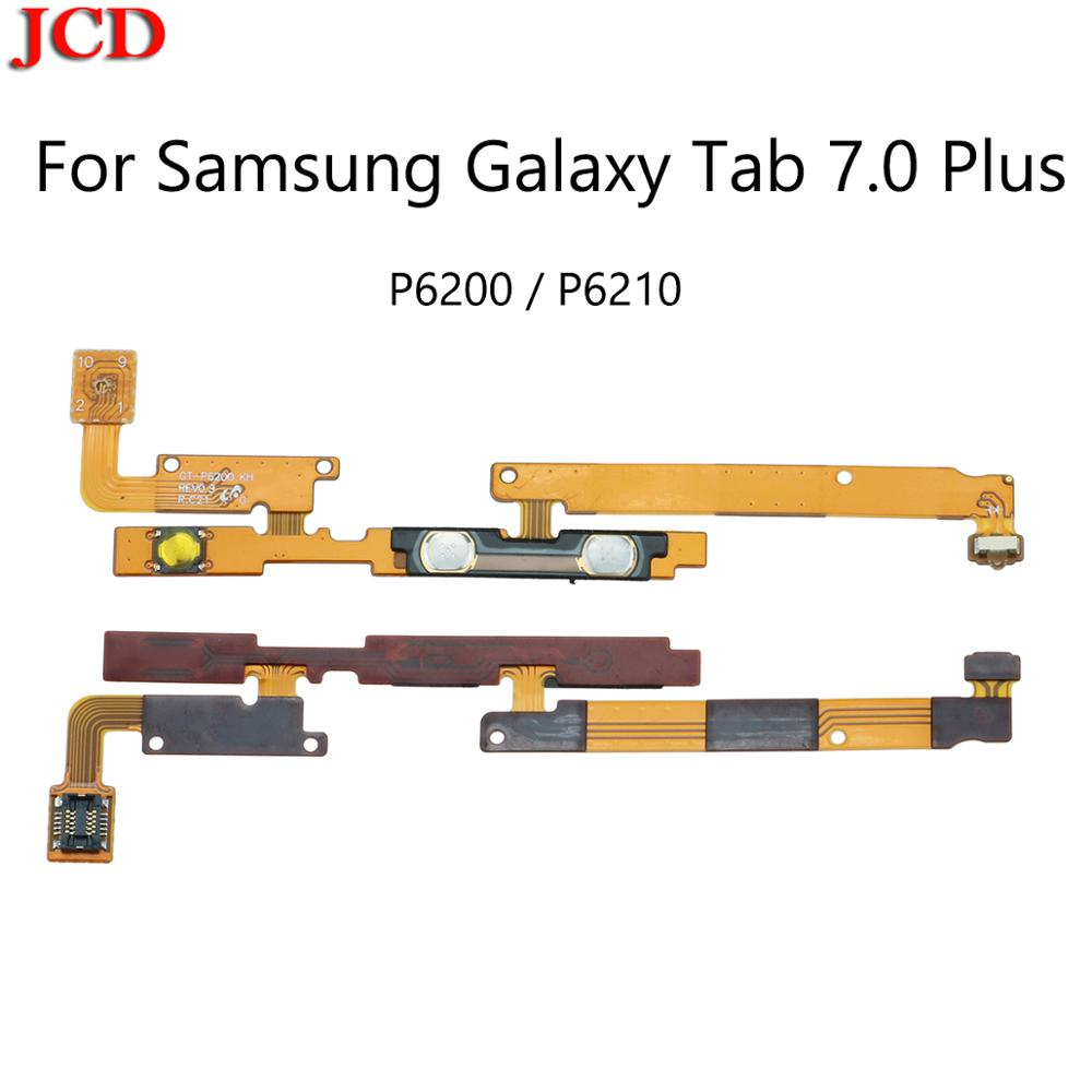 JCD nuevo encendido/apagado botón de volumen Cable flexible para Samsung Galaxy Tab 7,0 Plus P6200 GT-P6210 Volumen de alimentación clave de Control de lado