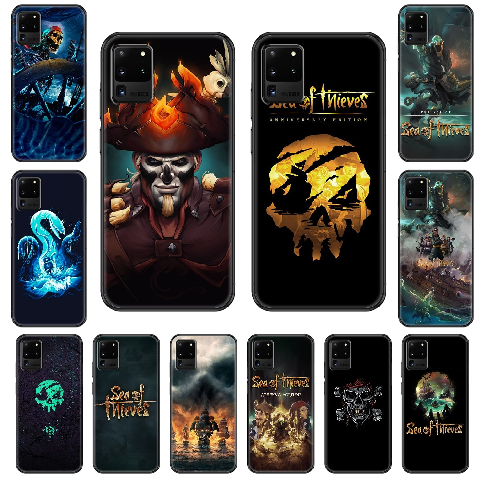 Sea of Thieves Phone case For Samsung Galaxy S 3 4 5 6 7 8 9 10 E Plus Lite Edge black painting back soft waterproof art coque