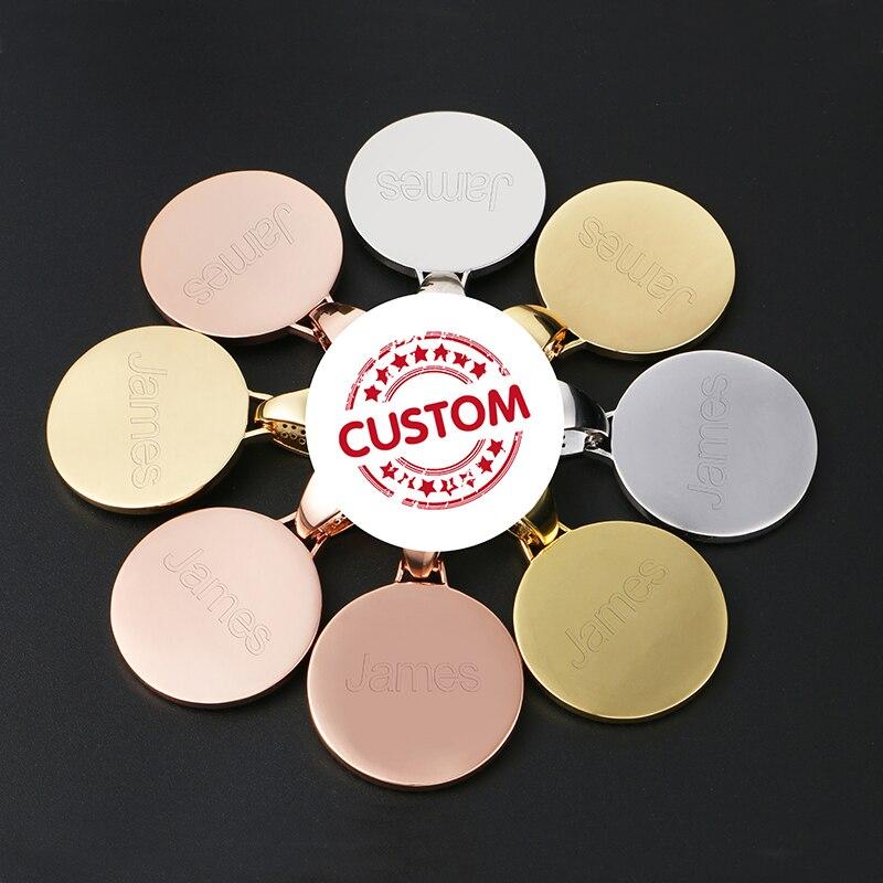 Foto personalizada medallones colgante collar 4mm Cadena de tenis oro plata Iced Out Cubic Zircon hombres Hip Hop Rap joyería regalo