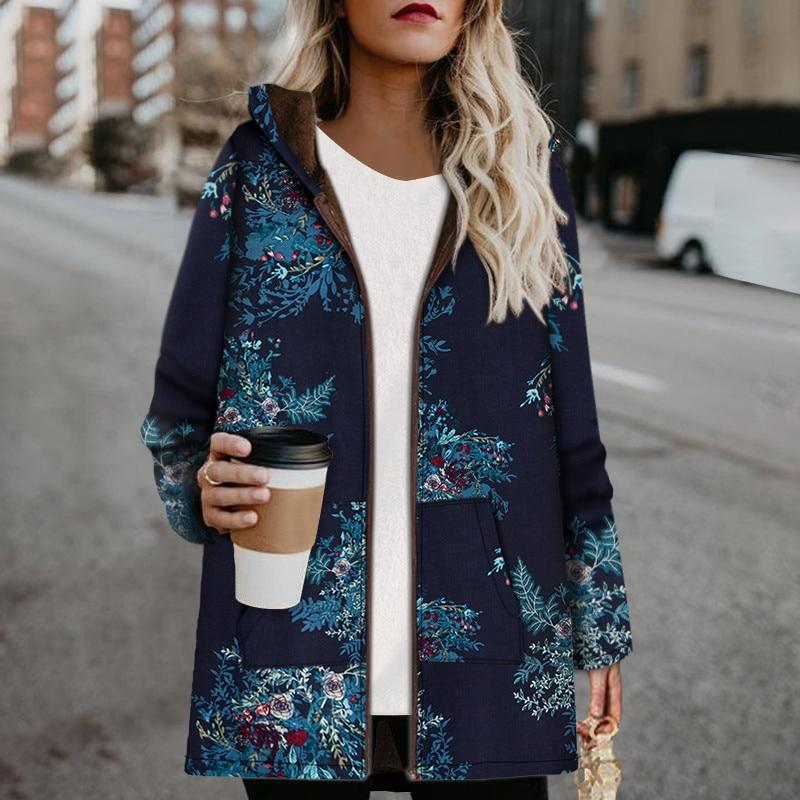 Chaqueta de invierno de talla grande para Mujer, abrigo con capucha y...
