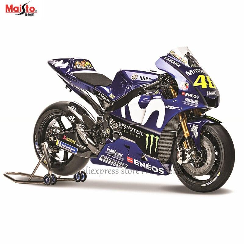 Maisto 118 2018 Yamaha fábrica equipo de carreras NO 46 original autorizado Aleación de simulación modelo de motocicleta juguete coche colección de regalo