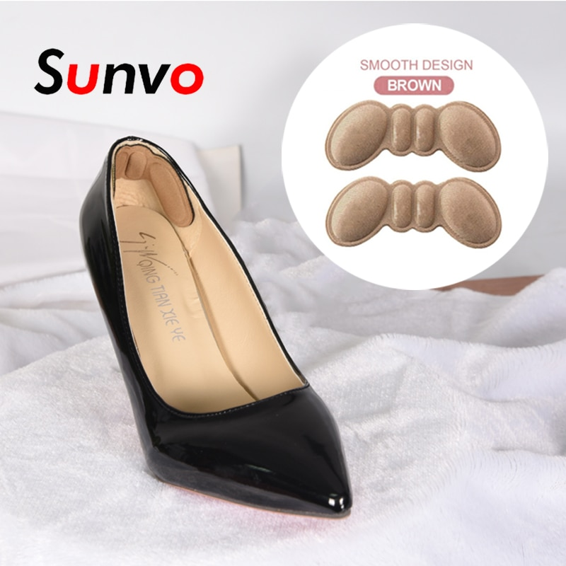 soumit 5 pair heel pad wear resistant fashion heel protector foot adhesive liner pads pain relief cushion for women shoe sole Sunvo Shoe Heel Pads for Women High Heel Shoes Insert Insole Adhesive Liner Grip Heels Protector Sticker Foot Pain Care Cushion