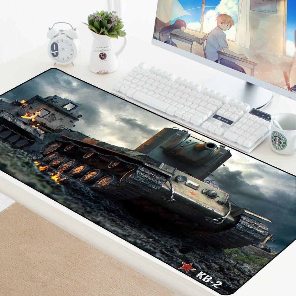 Коврик для мыши World of Tanks, большой нескользящий игровой коврик для мыши, коврик для клавиатуры XXL, коврик для ноутбука, защита стола, для гейме...