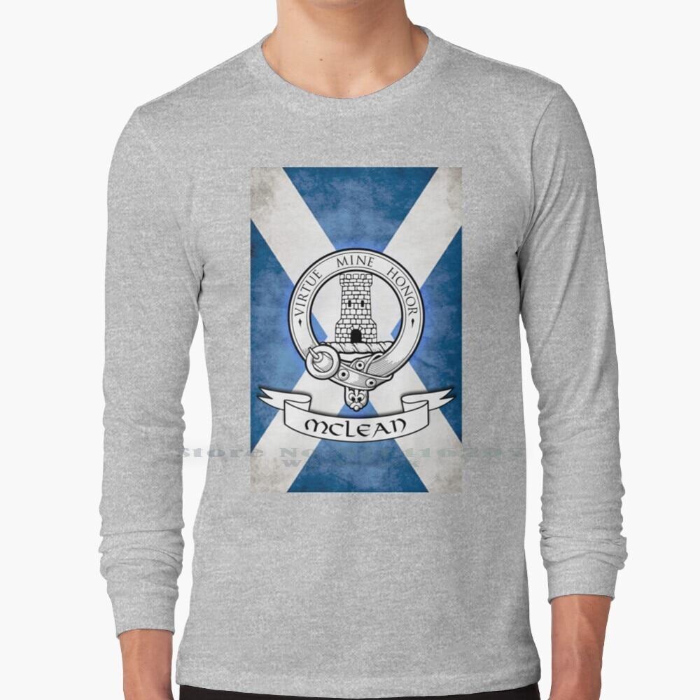 Mclean Family - Scottish Clan Crest T Shirt 100% Pure Cotton Scottish Scotland Clan Family Crest Crest Mclean Clan Mclean Duart