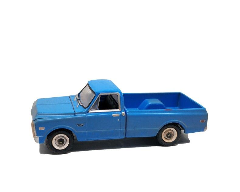 1 64 Greenlight Chevrolet C-10 Pickup Truck 1971 Azul Nenhum Caixa