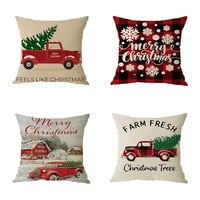 new pillowcase cushion cover linen merry christmas style 4 pillow case gifts sofa home office living decoration
