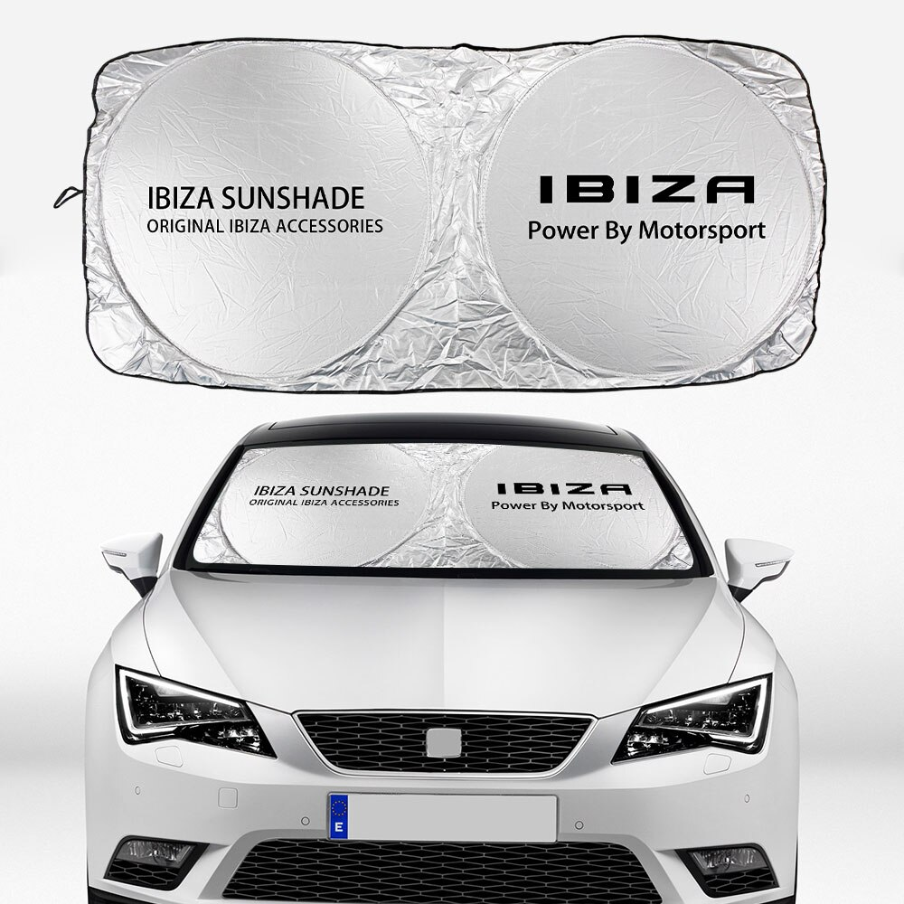 Parabrisas de coche, protector de ventana, cubierta para sombrillas, aislamiento solar, protección UV, protector solar, viseras, bloque para asiento Ibiza, accesorios de coche