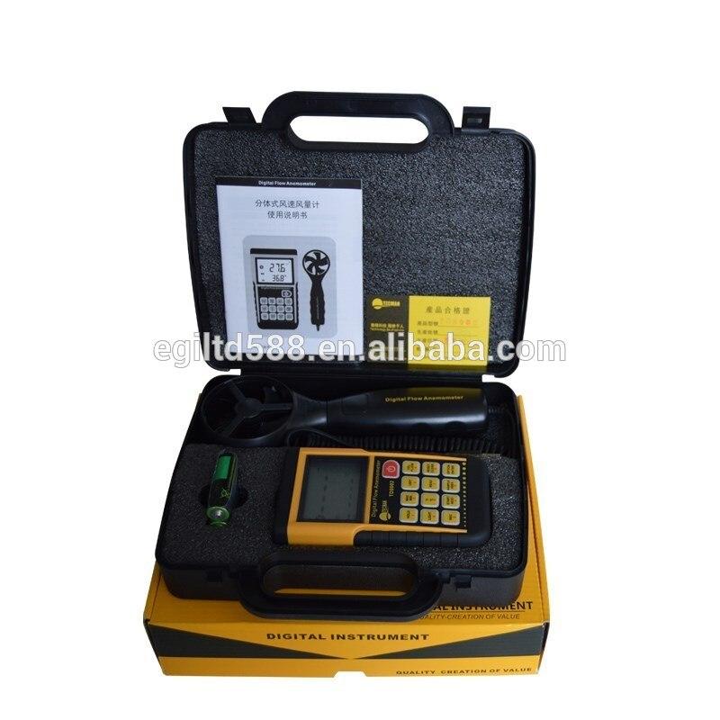 TM856D LCD Digital Anemometer Wind Meter Air Tester USB Scales Soft Outdoor Storage Type Wind Speed Meter  - buy with discount
