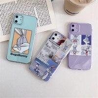 Прозрачный милый мультяшный чехол с кроликом для телефона Xiaomi Mi Redmi Note 10 9 8 Pro A3 Note 7 8t 9s 9 lite POCO X3, мягкие чехлы