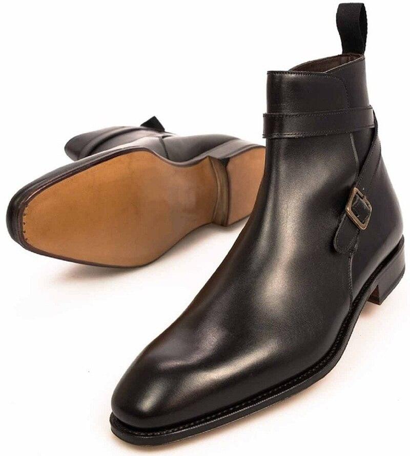 الرجال موضة جديدة براون الكاحل حزام بولي Leather فستان من الجلد الأحذية بدلة عمل أحذية مريحة حذاء كاجوال HL166
