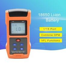 Medidor de potencia óptica de carga USB 2 en 1 con VFL 850,1300, 1310,1490, 1550, 1625nm herramienta de cable de red para CATV CCTV Test-70 ~ + 10dBm