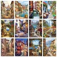Toile de decoration de noel  affiches de peinture  vue de la ville  tableau dart mural pour decoration de salon  decoration de maison