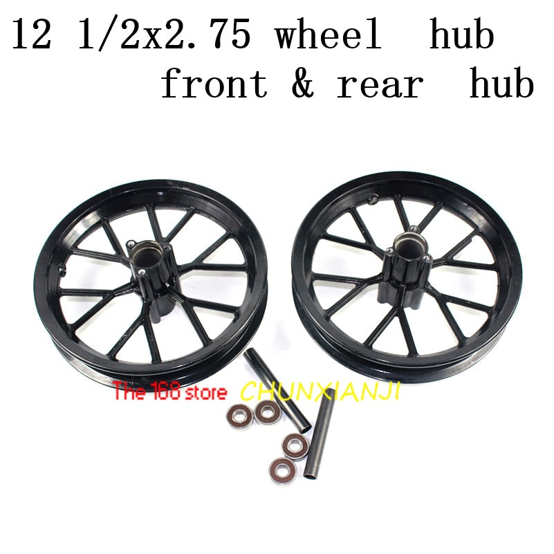 El más nuevo 12 1/2X2,75 cubo de rueda 12,5*2,75 llanta de aluminio para motocicleta 49cc Mini neumático sucio de bicicleta MX350 MX400 Scooter