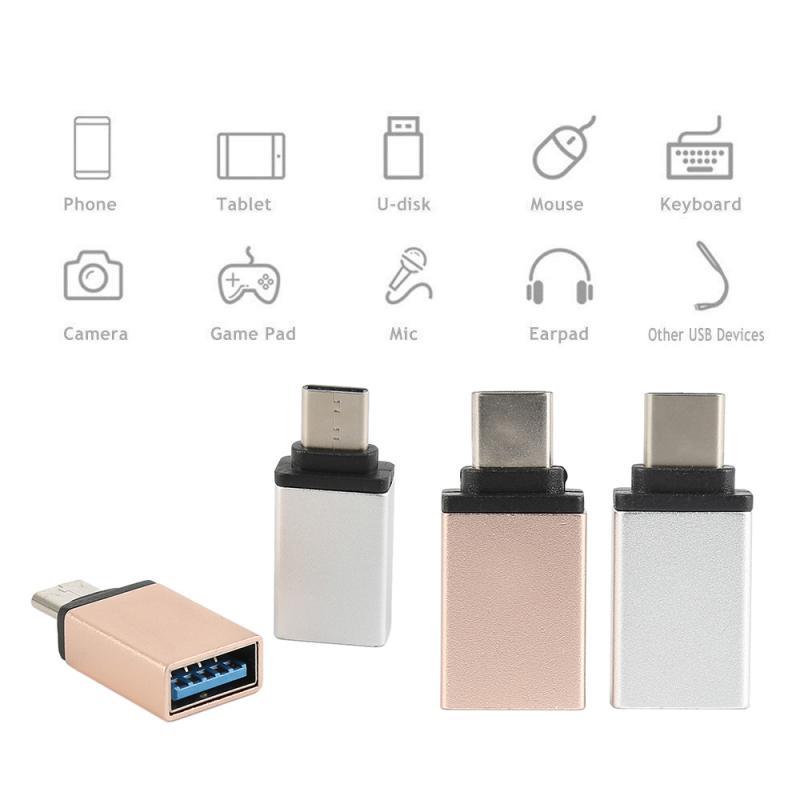 Adaptador Micro USB 3,0 OTG portátil, convertidor de Cable USB C, Conector...