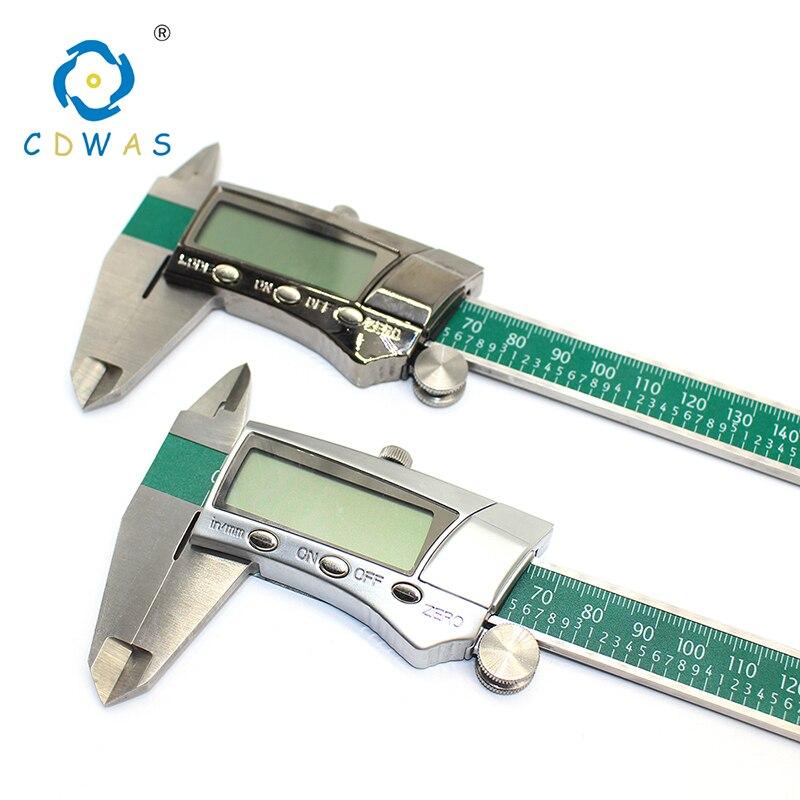 Pantalla Digital 0-150mm de acero inoxidable pinzas fracción/MM/pulgadas LCD electrónica Vernier de alta calidad impermeable