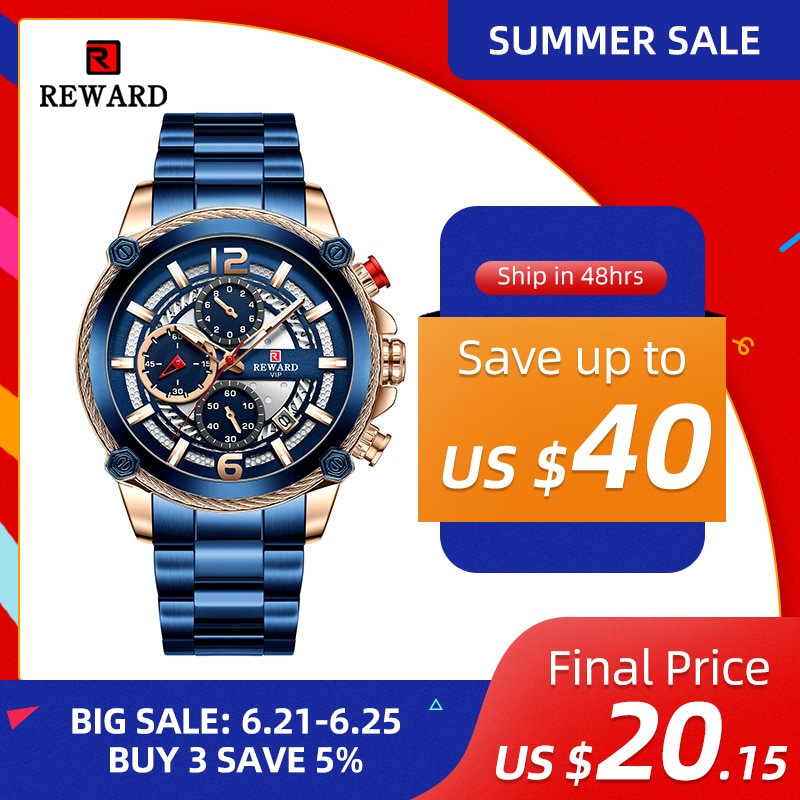 Reward Fashion Men Watches Luxury Sport Watch Casual Business Waterproof Wrist Watch For Men'S Quart