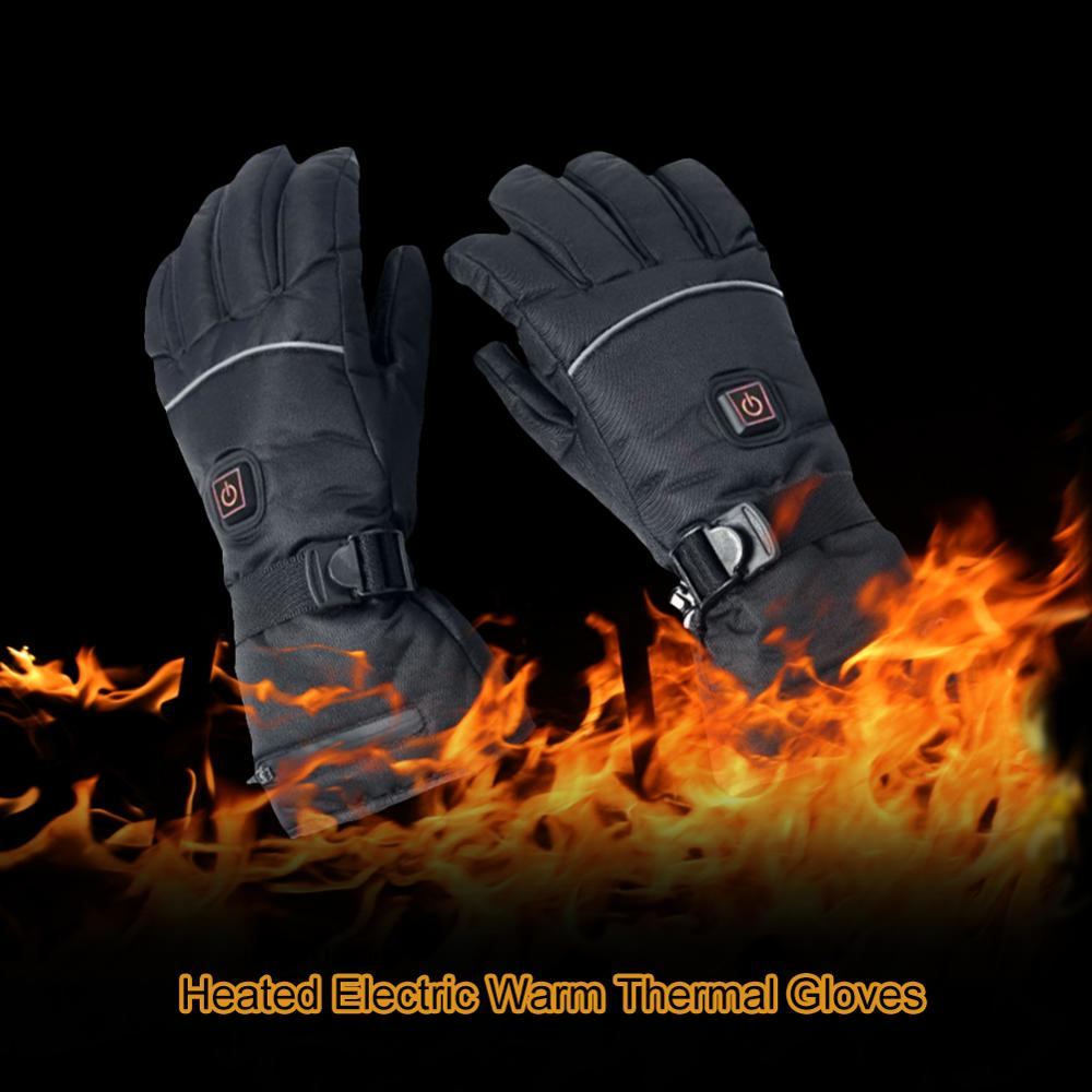 savior heating gloves thickened battery heating warm outdoor gloves motorcycle gloves shatter resistant gloves shell Rechargeable Thermostat Electric Heating Gloves Lithium Battery Heating Gloves Warm Ski Gloves for Skiing Motorcycle Snow Biking