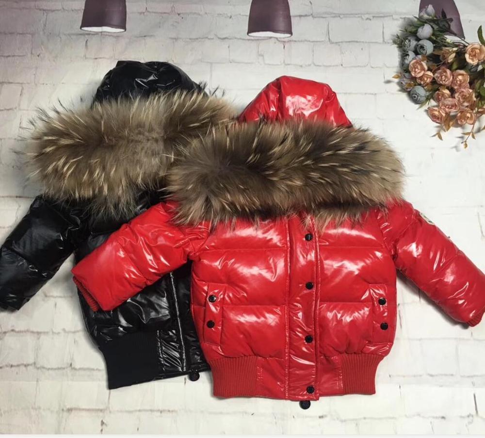 85 cm-145 cm 2019 invierno chaqueta de plumón parka para niños chaquetas plumón para niños abrigo grueso corto para niño chaquetas plumón de pato parka