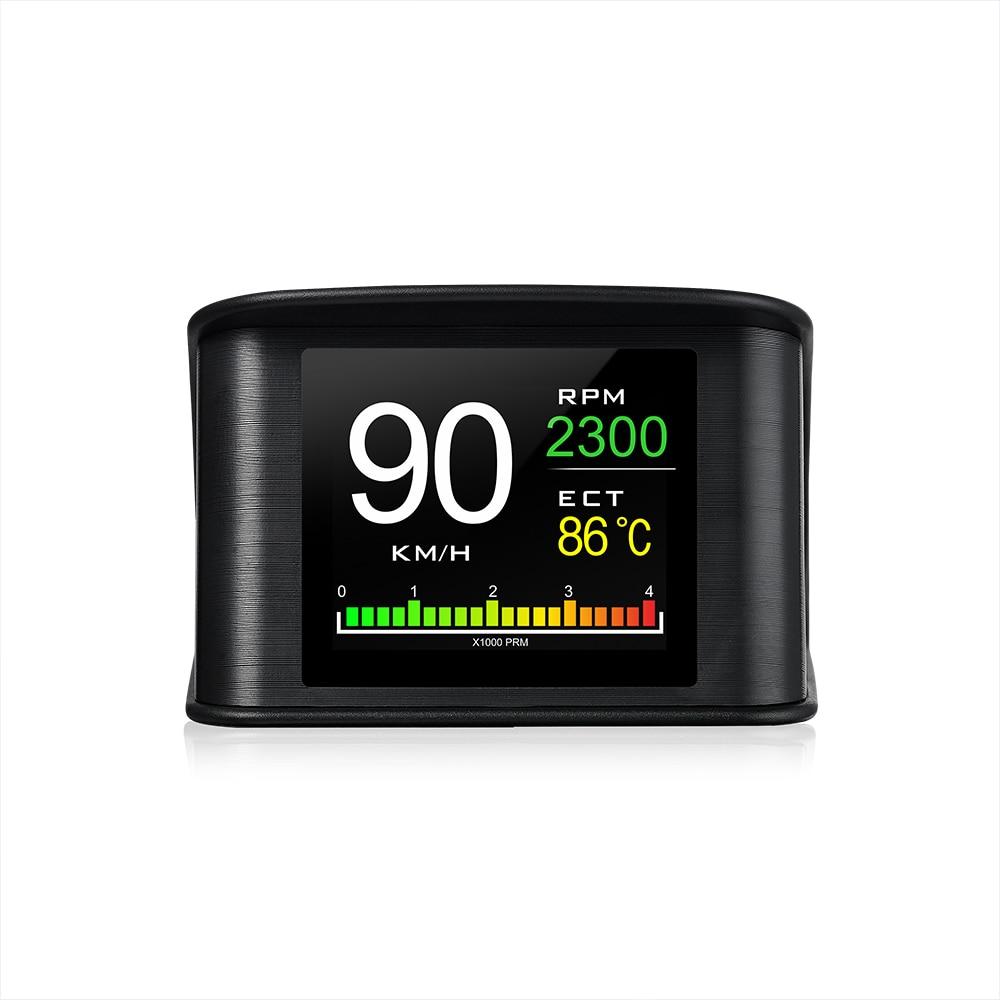Купить с кэшбэком WiiYii OBD2 HUD P10  car head-up display OBD Digital Temperature Gauge Speed Meter Engine Coolant Temperature Display Alarm