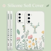 flower for samsung galaxy s21 s20 fe s10 note 20 10 plus case elk soft cover a72 a52 a42 a32 a71 a51 a41 a31 a21s phone case