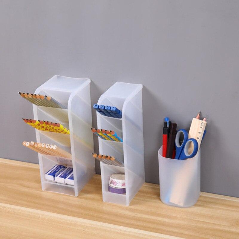 Комбинация Творческий Многофункциональный 4 сетки Настольный органайзер ручка держатель макияж коробка для хранения школьные офисные аксессуары канцелярские принадлежности