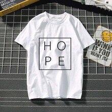 Harajuku Hope Love letter Women T Shirt women clothes 2019 summer kawaii plus size women Short Sleeve T-shirt Funny tumblr