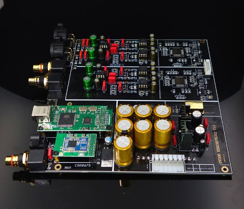 Tablero decodificador de lujo 178X182MM DC300 Dual Core ES9038PRO, tablero decodificador DAC