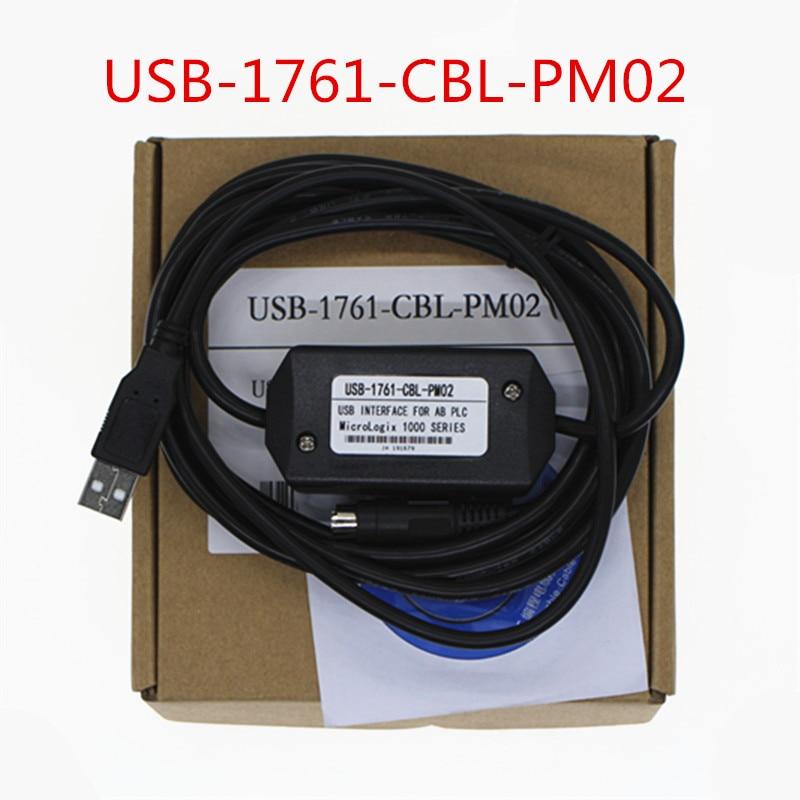 Adaptador USB USB-1761-CBL-PM02 para A-B MicroLogix 1000,1200 1400,1500 Serie USB 1761 CBL...