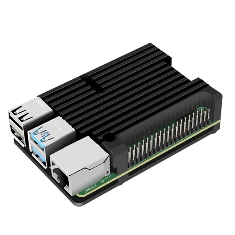 Für Raspberry Pi 4 Modell B Aluminium Fall, passive Kühlung Aluminium Legierung Schutzhülle Metall Gehäuse für Raspberry Pi 4 Mod