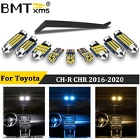 bmtxms 10pcs canbus car led interior light tool kit for 2016 2020 toyota ch r chr no error map dome trunk auto lamp accessories