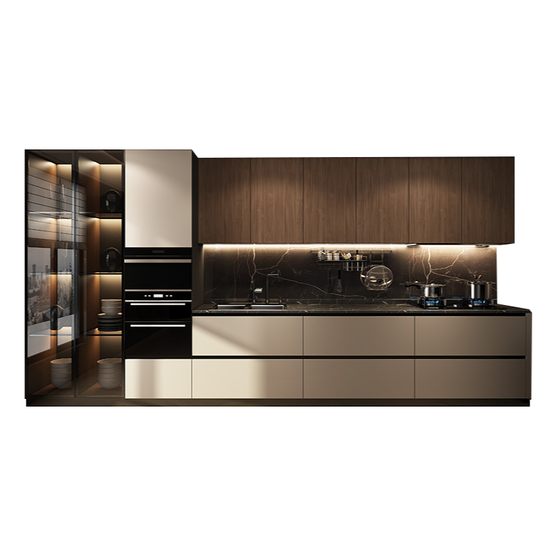 خزانة حزمة مخصصة فرن المطبخ كونترتوب متكاملة طاولات مطبخ من الكوارتز حجر كونترتوب زخرفة الأثاث