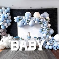 350191 pcs big blue balloons garland for baby shower balloon baby first one year birthday boy birthday party decor kids ballon