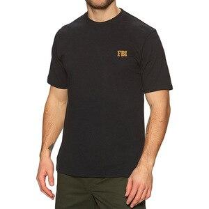 Mens FBI Federal Bureau of Investigation Embroidered T-shirt Embroidery FBI Shirts