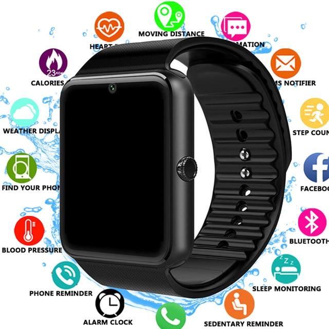 2019 часы Bluetooth Smart Uhr para Iphone Teléfono para Huawei Xiaomi soporte de Android 2G SIM TF Karte Kamera Smartwatch часы мужские