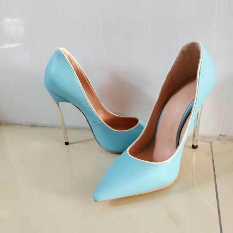 Sandálias de Verão Finos e Leves Sapatos Femininos Azuis 2021