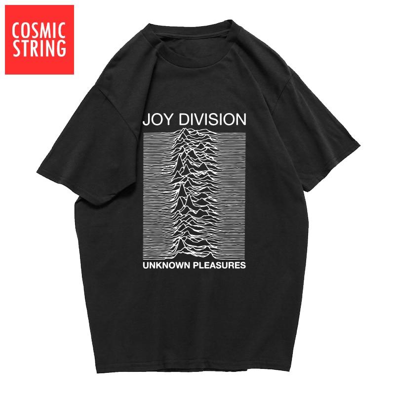 Космическая струна 100% хлопок Летние мужские футболки Joy Division неизвестное удовольствие панк крутая футболка рок хипстерская футболка футболки
