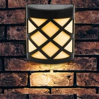 warm white led solar light outdoor wall lamp light ip65 waterproof