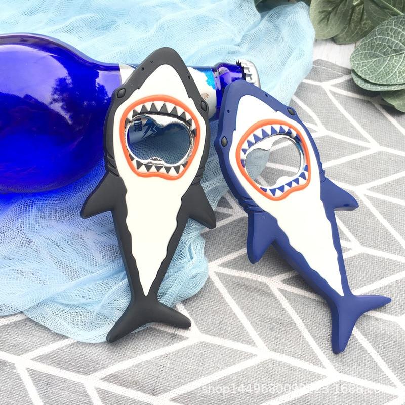 1 Pc Shark Beer Bottle Opener Magnet Shark Shaped magnet fridge Creative Beer Opener kitche Bar Tools  3d magnet fridge stickers
