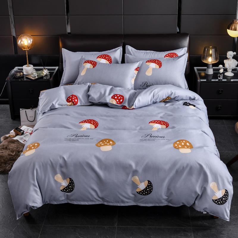 De impresión cubierta nórdico rey cama. EE. UU. Es de la UE tamaño colcha para niños cubierta conjunto de ropa de cama para dormitorio de lino