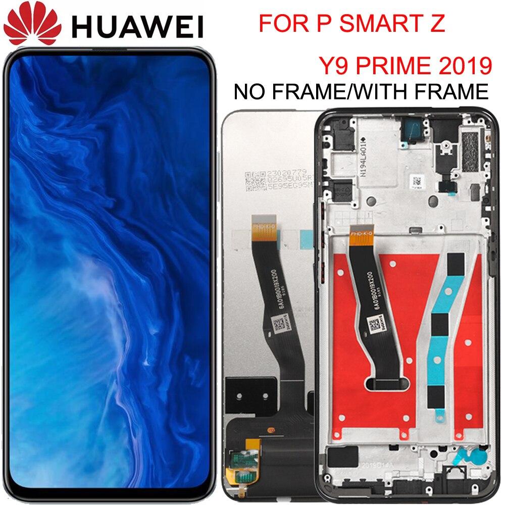 Original 6,59 pulgadas Huawei Y9 primer 2019 / P Smart Z LCD pantalla STK-LX1 MONTAJE DE digitalizador con pantalla táctil a