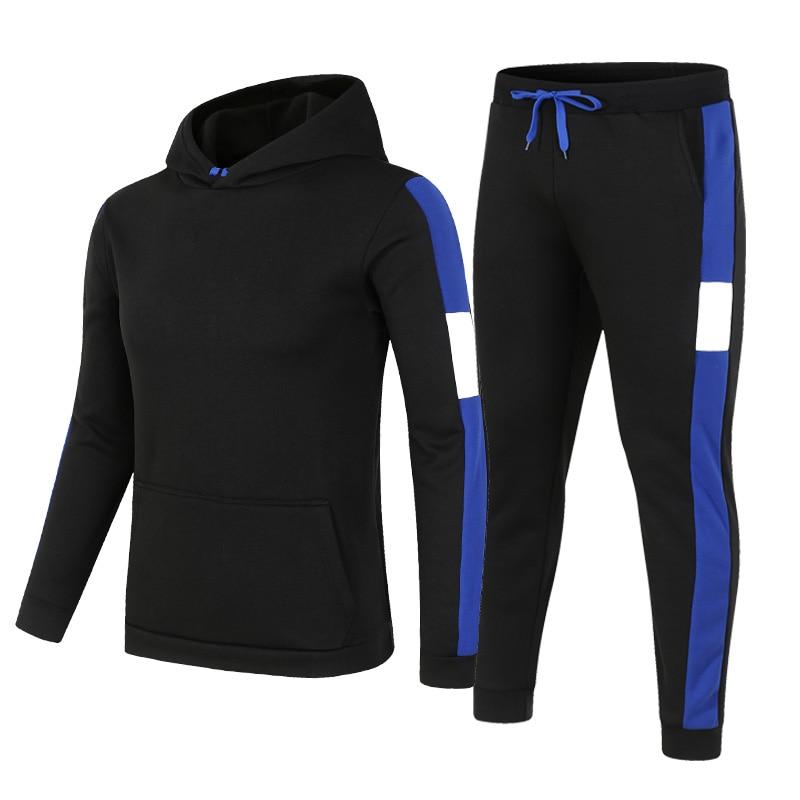 Мужская спортивная одежда 2021, Свитшот из 2 предметов + спортивные брюки, спортивная одежда, пуловер, толстовка, повседневная мужская одежда, ...