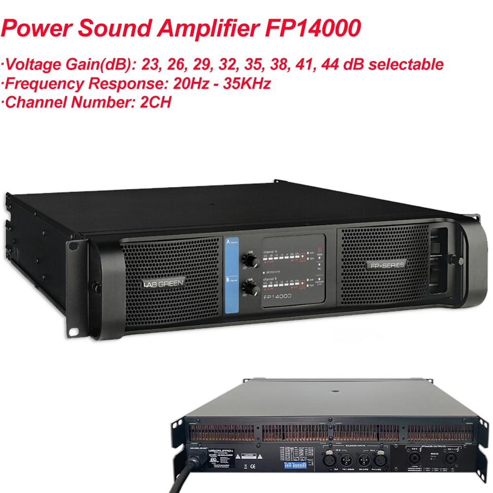 مضخم طاقة 2350 واط × 2 ، مضخم قناة FP 14000 ، معدات إضاءة المسرح ، مصفوفة الخط ، مضخم القناة ، FP14000