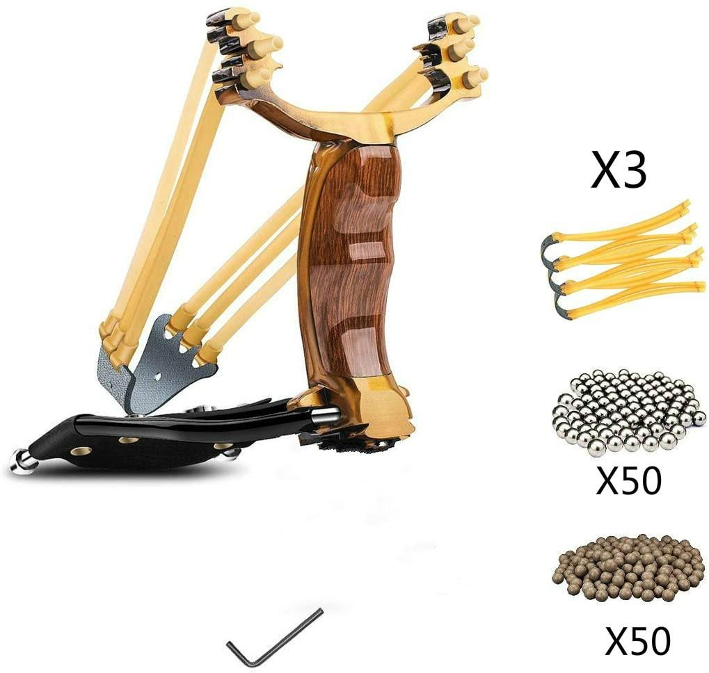 Hunting Slingshot Heavy Duty Wrist Rocket Slingshot Sling Shot for Adult Outdoor Catapult Slingshot Set Hunting Bows