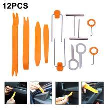 Professiona12pièces panneau de porte de voiture   Plastique Auto, Clip de panneau de garniture du tableau de bord Radio, Kit doutils de dépose de panneau de voiture, carros chaud