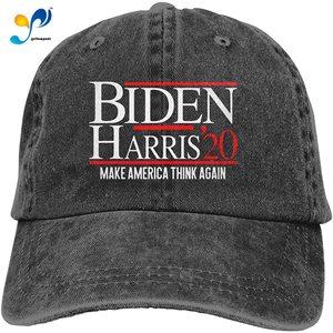Unisex Classic Biden Harris 2020 Make America Think Again Dad Hat Men Women Adjustable Baseball Cap Sandwich Hat
