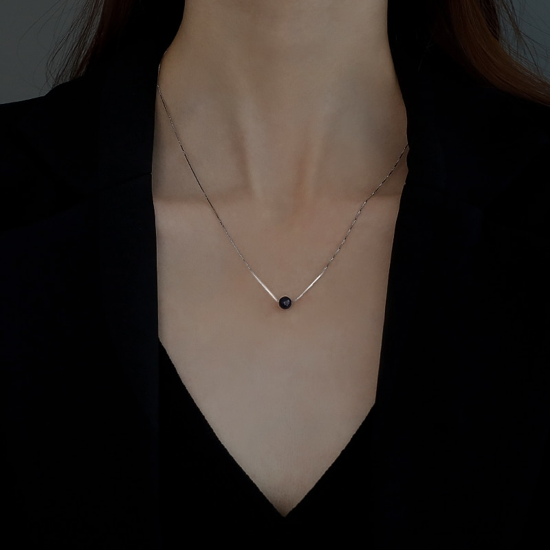 925 Sterling Silver Starry Sky Small Balls Necklace for Women 2020 New Ins Niche Design 2021 Clavicle Chain Neck Chain