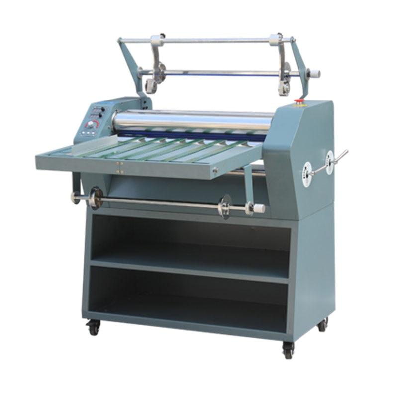 آلة تغليف الورق الساخن والبارد 650 مللي متر ، هيكل بكرة فولاذية أحادية مزدوجة مقاومة التجعيد ، تسخين كهربائي