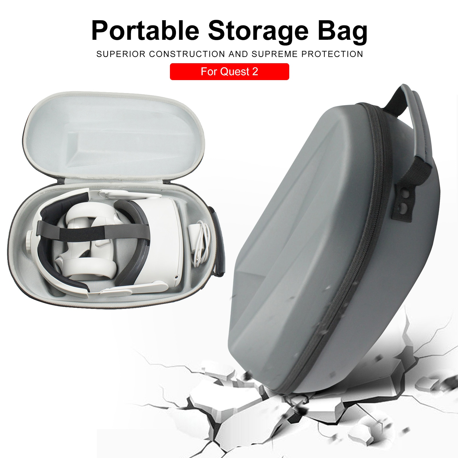 Hot Protective Shockproof VR Gaming Headset Carrying Case VR Gaming Headsets Carrying Case Unique Bag for Quest 2 Dropshipping недорого